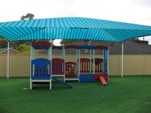 Shade Structure over child's playground