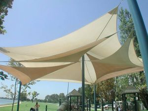 shade sails in park