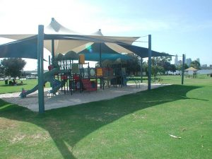 sunsails over a play area