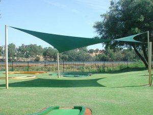 mini golf hypar shade sail