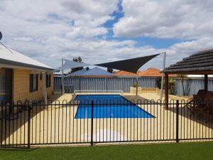 Shade Sail Over Swimming Pool Perth