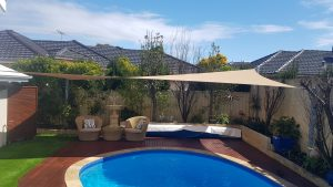 Shade Sails for pool and entertaining